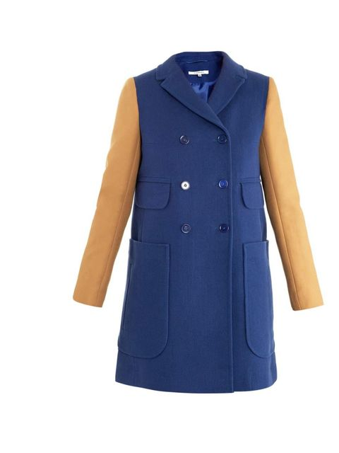 "<p>Carven double breasted coat, £520 at <a href=""http://www.matchesfashion.com/product/138269"">Matches</a> </p>"