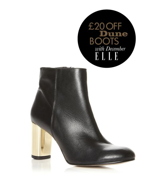 "<p>Dune metallic heel ankle boot, £120</p><p><a href=""http://shopping.elleuk.com/browse?fts=dune+narella"">BUY NOW</a></p>"