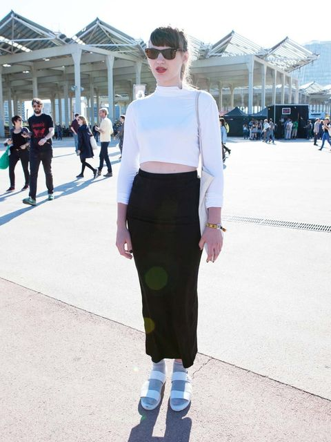 <p>Laura Clarke wears Asos top and skirt, Topshop shoes and Ray Ban sunglassesTwitter: @trolllc</p>