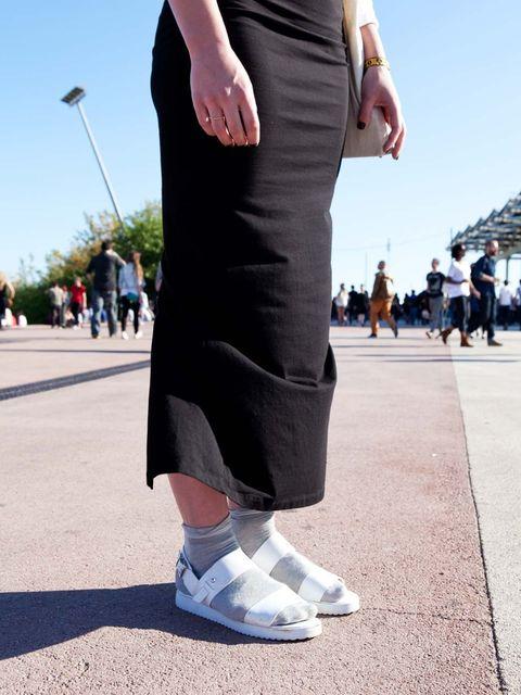 <p>Laura Clarke wears Asos skirt, Topshop shoes.</p>