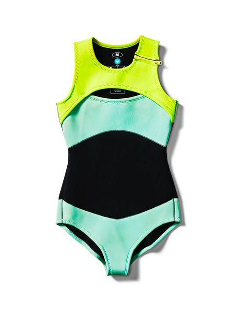 """<p><a href=""""http://www.roxy-uk.co.uk"""" target=""""_blank"""">Roxy</a> wetsuit one-piece, £60</p>"""