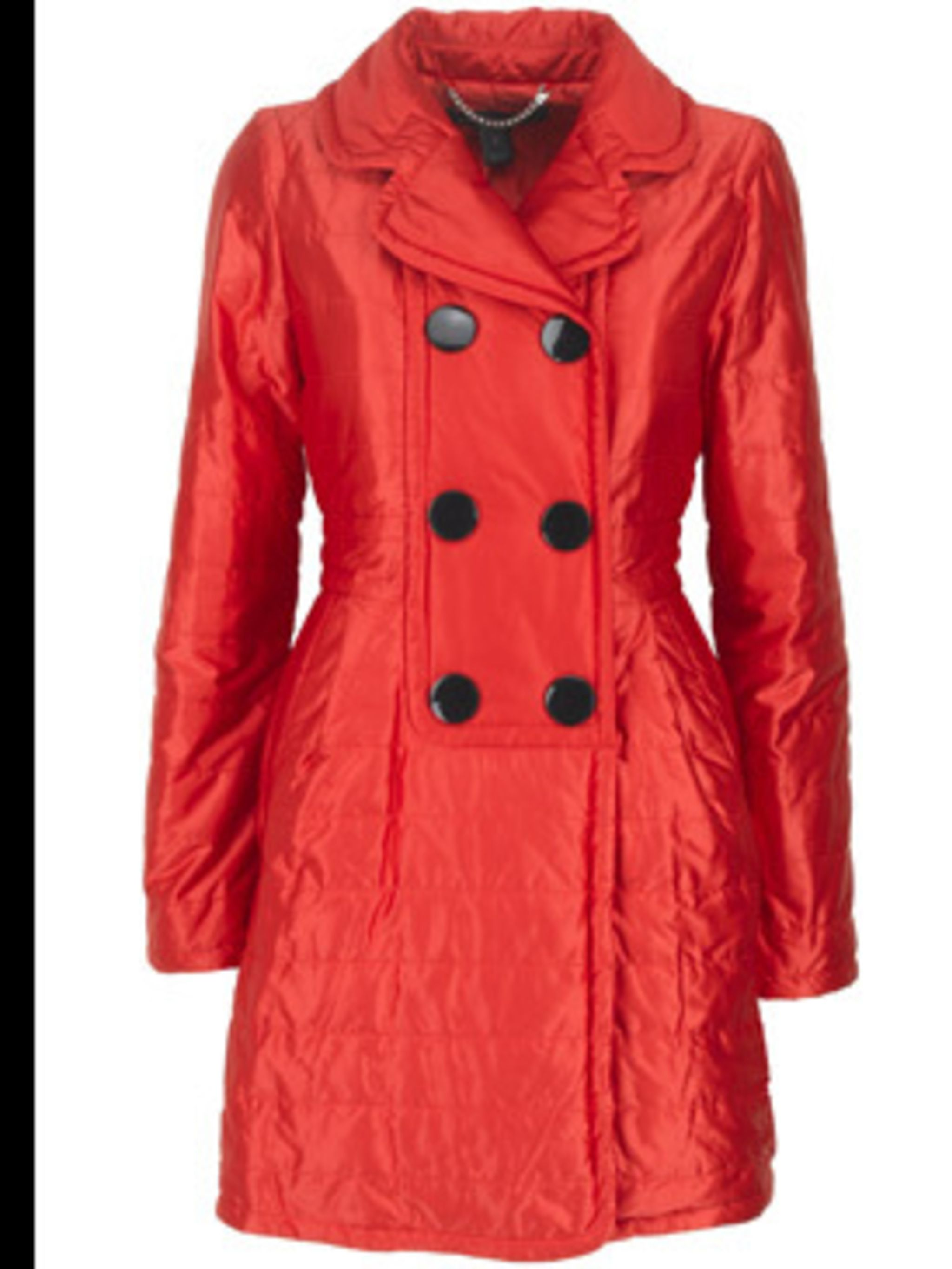 <p>Red satin puff coat £385 by Marc by Marc Jacobs, available from Selfridges 0800 123 400</p>