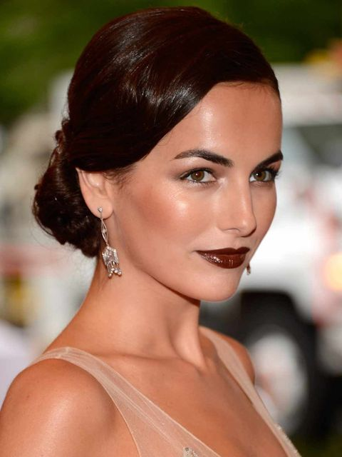 <p>Camilla Belle at the Met Ball 2012 with statement lips</p>