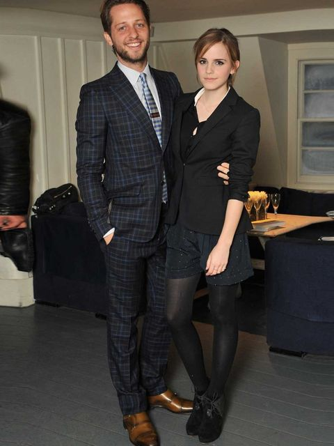 <p>Derek Blasberg and Emma Watson</p>