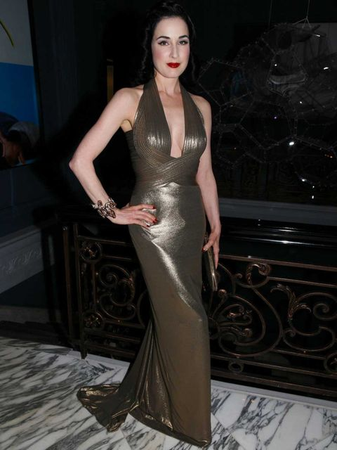 <p>Dita Von Teese at her private dinner</p>