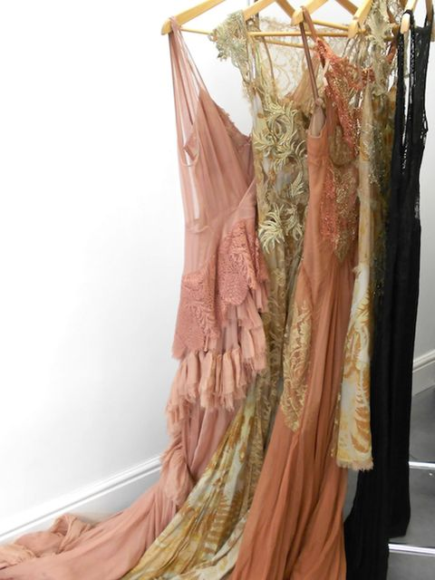 <p>Our rail at Julien MacDonald's atelier</p>