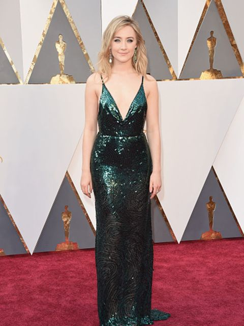<p>Beautiful blonde Saoirse boasts a truly Irish name, apparently pronounced 'ser-sha'.</p>