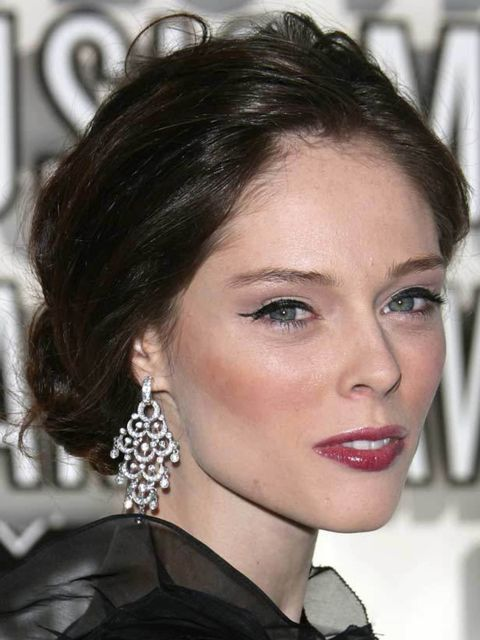 <p>Coco Rocha has clearly been taking backstage beauty notes: she knows a slick of black liner is the quickest way to update her look. Oh and her berry lip is bang on trend too. Try Rimmel's Exaggerate Eye Liner, £4.99. </p>