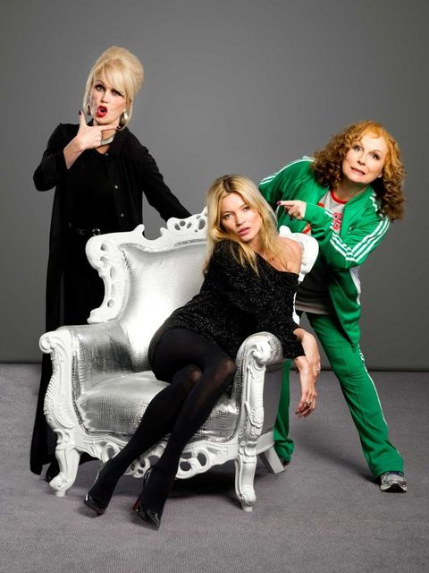 <p>Kate, Patsy and Edie pose for the camera</p>