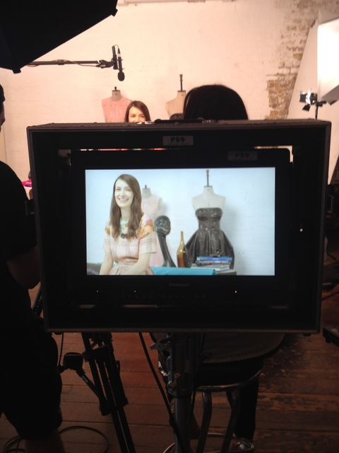 <p>Behind the scenes at the Triumph 'Women In Making' shoot.</p>