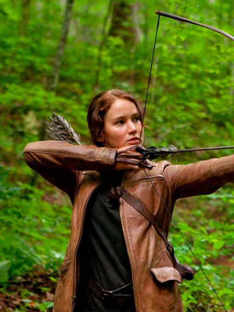 "<p><strong><a href=""http://www.elleuk.com/star-style/celebrity-style-files/jennifer-lawrence"">Jennifer Lawrence</a> as Katniss Everdeen in 'The Hunger Games'</strong></p><p>Managing to look cool while running for your life gets you serious sartorial bonus"