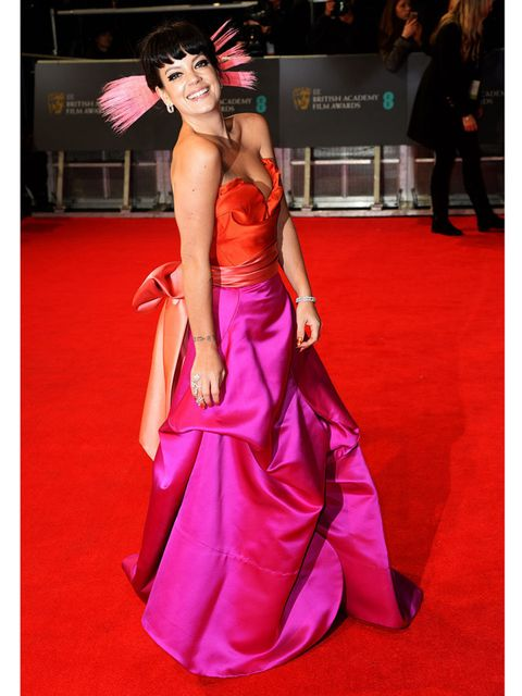 "<p><a href=""http://www.elleuk.com/star-style/celebrity-style-files/lily-allen-s-style-file"">Lily Allen</a> wears Vivienne Westwood at the BAFTA Awards, February 2014.</p><p><strong><a href=""https://itunes.apple.com/gb/app/elle-magazine-uk/id469353635?mt=8"