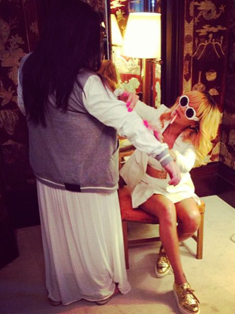 <p>Rihanna working on her River Island collection</p>
