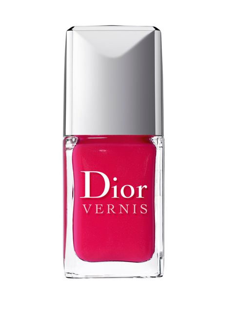 "<p><a href=""http://www.dior.com/beauty/en_gb/fragrance-and-beauty/makeup/nails/nail-lacquers/fr-naillacquers-NailLacquers.html"">Dior Vernis Lasting Nail Lacquer in Blazing Pink, £18</a></p>"