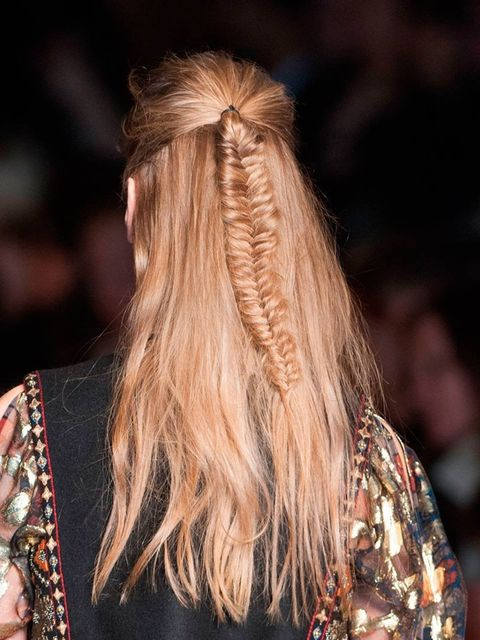 "<p>Hair Stylist: Eugene Souleiman for Wella Professionals </p><p>Look: Windswept Fishtail</p><p>Inspiration: Hair that's been styled in a tent at a desert tribal festival. </p><p>Key Product: <a href=""http://www.lookfantastic.com/wella-professionals-ocean"