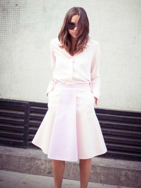 <p>Natalie Wansbrough-Jones, Senior Fashion Editor:</p><p>Trager Delaney shirt and skirt</p>