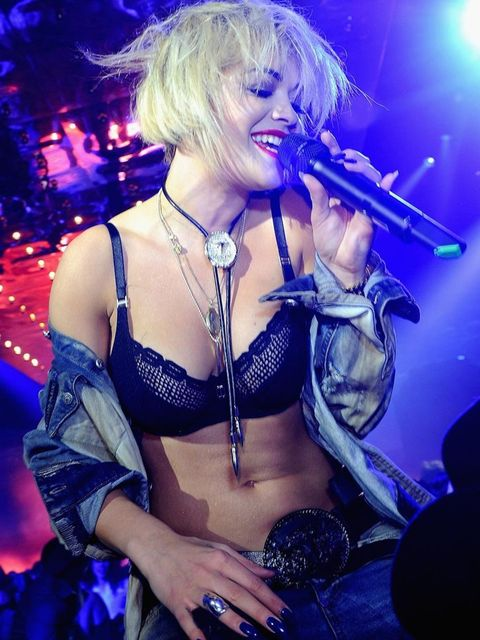 <p>Rita Ora performs during the Philipp Plein show after-party as part of Milan Fashion Week </p>