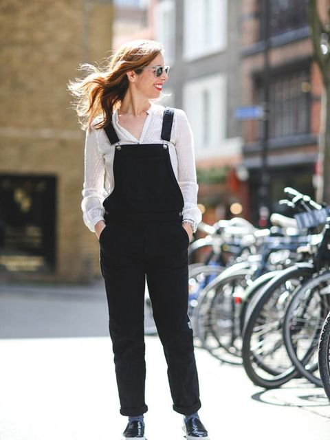 <p>Kirsty Dale, Executive Fashion & Beauty Director</p>  <p>Zara blouse, Gap dungarees, Russell & Bromley shoes, Topshop socks, Ray Ban sunglasses</p>