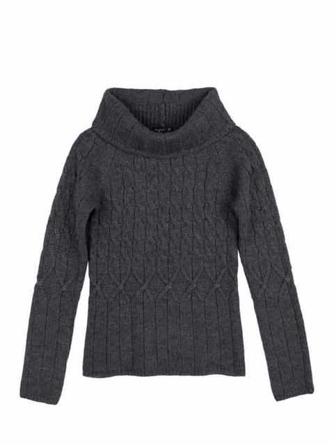 "<p>Alpaca cable knit jumper, £210, by <a href=""http://europe.agnesb.fr/en/shopping_online/product/woman-1/knitwear/pull-over-niels/808"">Agnes b </a></p>"