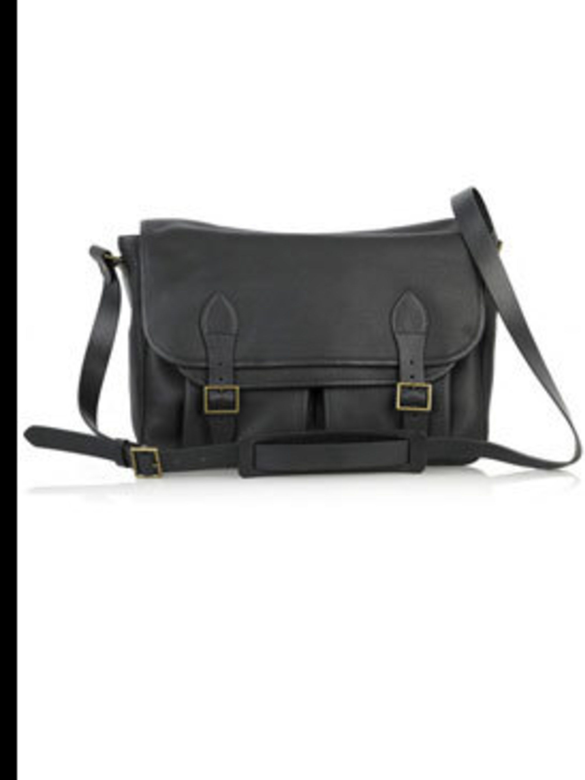 "<p>Leather satchel, £285, by APC at <a href=""http://www.net-a-porter.com/product/46205"">Net-a-Porter</a></p>"