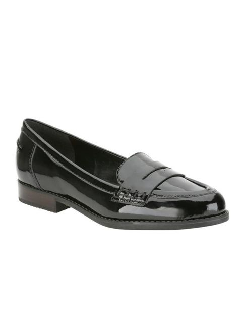 "<p>Black patent loafers, £44.99, by <a href=""http://www.clarks.co.uk/find/keyword-is-Crepe+Suzette/product-is-20334825"">Clarks</a> </p>"