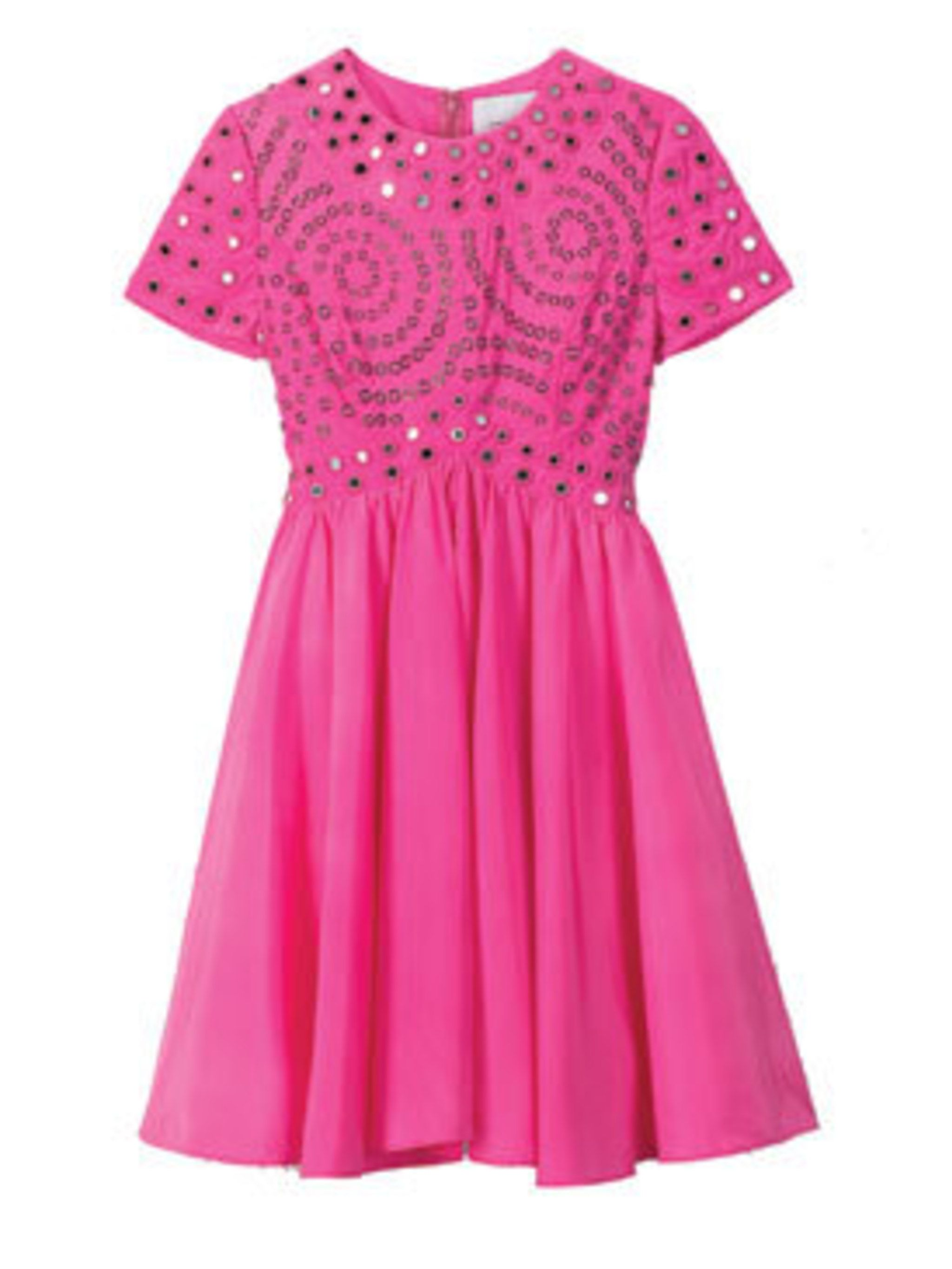 <p>Pink dress, £150, by Christopher Kane for Topshop (0845 121 4519)</p>