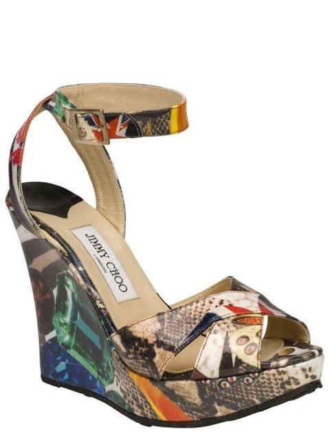 <p>Jimmy Choo Project PEP wedge sandals</p>