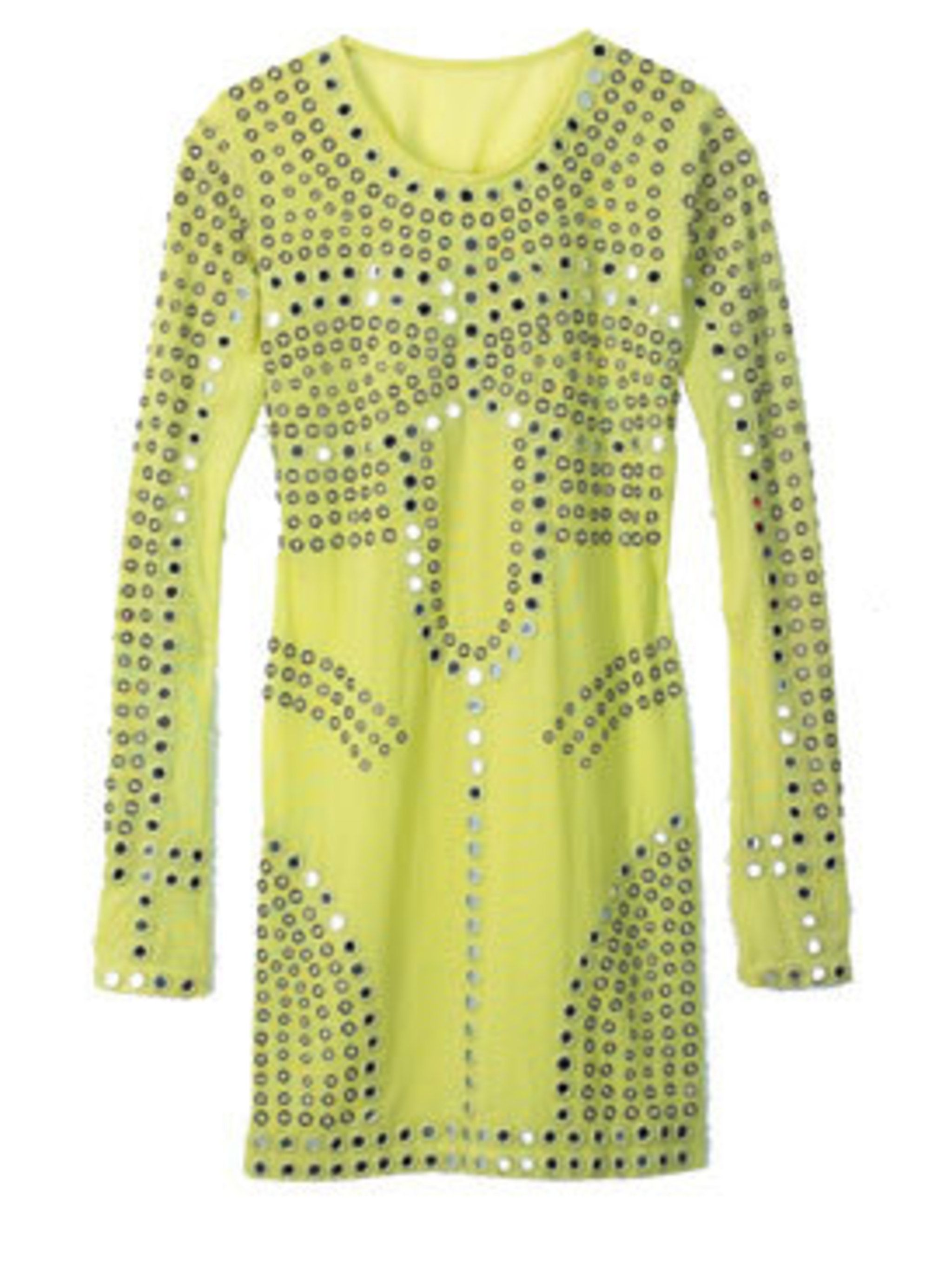 <p>Green dress, £125, by Christopher Kane for Topshop (0845 121 4519)</p>