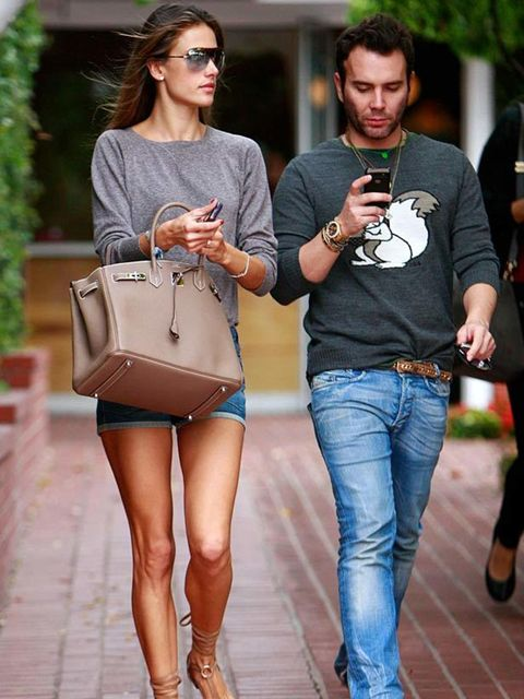"<p><a href=""http://www.elleuk.com/starstyle/style-files/(section)/alessandra-ambrosio"">Alessandra Ambrosio</a> wearing denim shorts with sandals and a <a href=""http://www.elleuk.com/catwalk/collections/hermes/"">Hermes</a> Birkin bag in Hollywood, April 20"