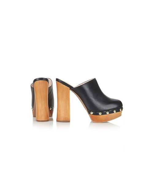 "<p><a href=""http://www.topshop.com/en/tsuk/product/shoes-430/swinging-stud-mule-clogs-4415113?bi=1&ps=20"" target=""_blank"">Topshop</a> mule clogs, £59</p>"