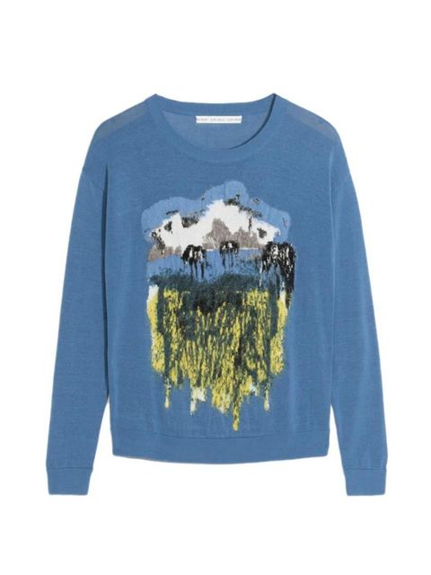 "<p>A Heidi-esque alpine scene. Layer over a floral dress for an unexpected clash.</p>  <p><a href=""http://www.stories.com/gb/New_in/All_new_in/Mountain_Applique_Sweater/108773759-108689723.1"" target=""_blank"">& Other Stories</a> jumper, £55</p>"