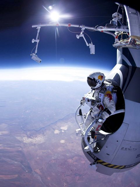 <p>He jumped from space! What more do you need? Oh, his name is Felix Baumgarter.</p>