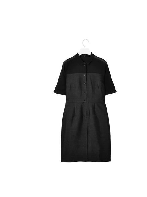 "<p>A classic shirt dress with a twist - the sheer shoulder panel breaks up the line and stops this from being too safe.</p><p><a href=""http://www.cosstores.com/Shop/Women/New/Sheer_panel_shirt_dress/365246-8211366.1"">COS</a> dress, £89</p>"