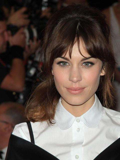 <p>Alexa Chung at the Met Ball 2012 with a sixties hairstyle</p>