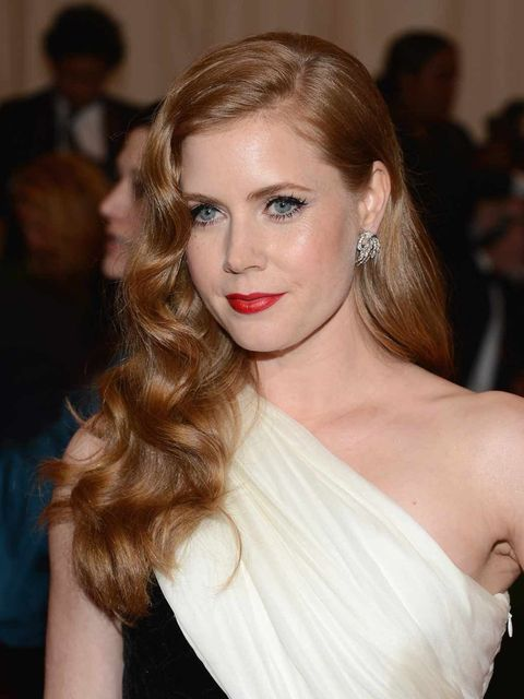 <p>Adam Adams wearing a classic red lip at the MET Ball 2012</p>