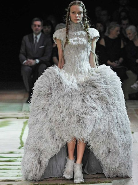 <p>Sarah Burton's SS11 design for Alexander McQueen appears in the exhibition</p>