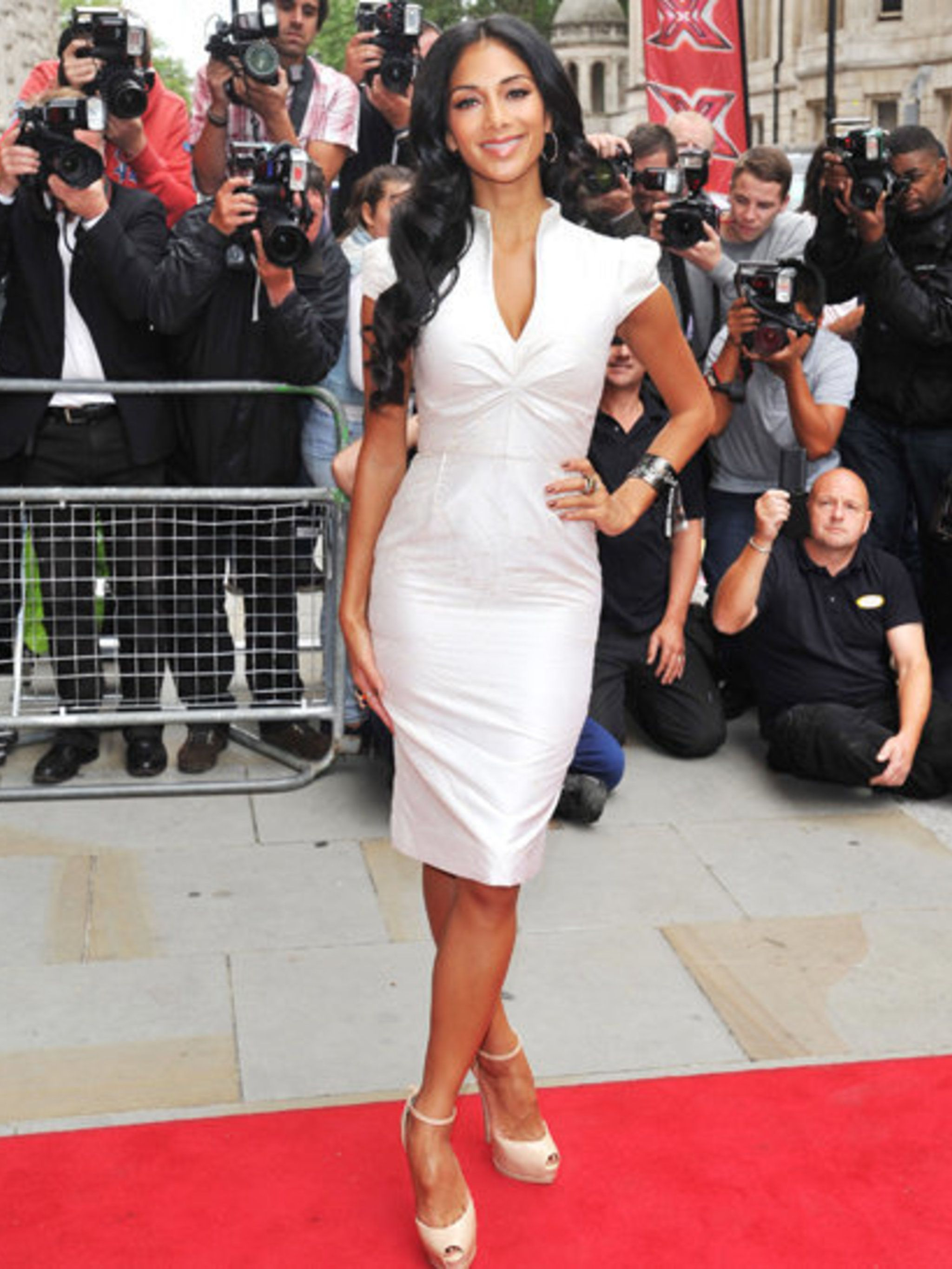 <p>Nicole Scherzinger attends the official press launch of the ninth season of The X Factor UK</p>