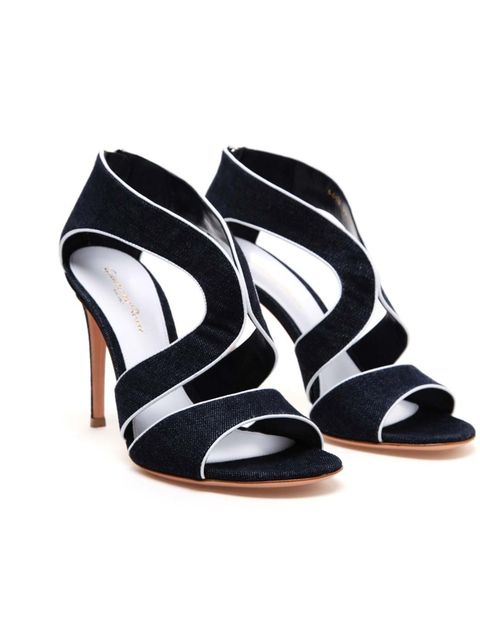 """<p>Gianvito Rossi denim cut-out sandals, £445, available from <a href=""""http://www.brownsfashion.com/product/LS4I52670002/193/denim-cutout-sandals"""">Browns</a></p>"""