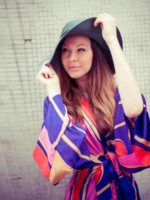 "<p>Julia Shutenko, Fashion Intern:</p><p>Issa London printed maxi dress at <a href=""http://www.my-wardrobe.com/"">My-Wardrobe</a>, <a href=""http://www.urbanoutfitters.co.uk/"">Urban Outfitters</a> hat, Mango earrings</p>"