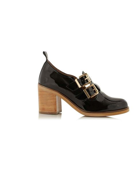 "<p>These patent leather buckle-up shoes strike just the right balance between preppy and clunky… <a href=""http://www.topshop.com/webapp/wcs/stores/servlet/ProductDisplay?beginIndex=1&viewAllFlag=&catalogId=33057&storeId=12556&productId=9791937&langId=-1&s"