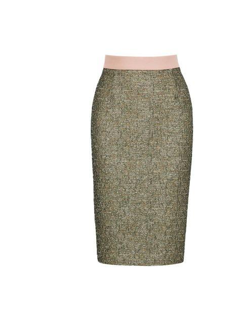 <p>Malene Birger metallic skirt, £189, at Fenwick, for stockists call 0207 629 9161</p>