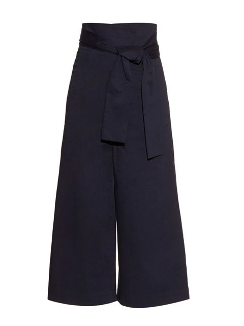 "<p>Trousers, £375, Tibi at <a href=""http://www.matchesfashion.com/products/Tibi-Paperbag-waist-wide-leg-trousers-1039105"" target=""_blank"">Matches</a> </p>"