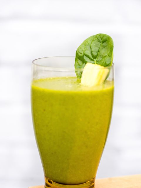 "<p><strong>77K Shares</strong>. Water, spinach, romaine lettuce, lemon, celery, banana, pear and apple. This is the most shared smoothie on our list, from <a href=""http://kimberlysnyder.com/blog/ggs/"">Kimberly Snyder</a>, and promises to keep your skin ce"