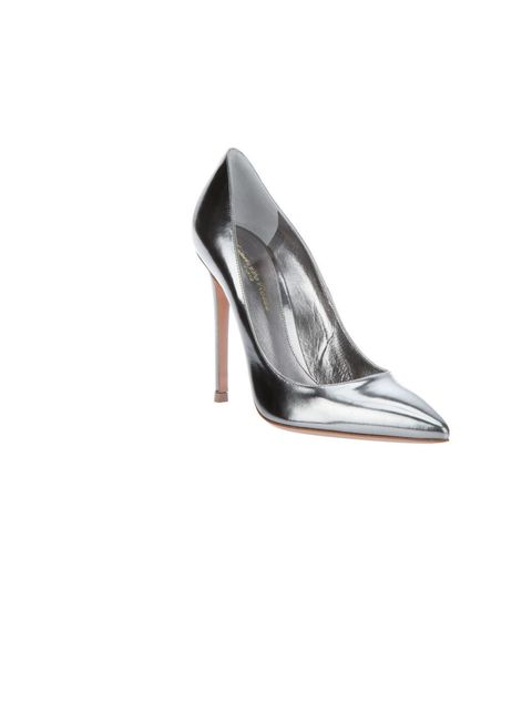 "<p>Gianvito Rossi metallic pointed pump, £359, at <a href=""http://www.farfetch.com/shopping/women/gianvito-rossi-pointed-pump-item-10222032.aspx"">Farfetch</a></p>"
