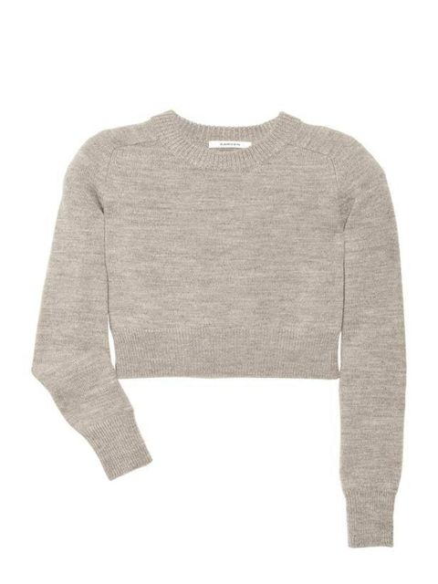 "<p>Cosy and comfortable knitwear with a luxe edge is a new must-have for the office and Carven's cropped sweater with elbow patches is one of our favourites... Carven wool sweater, £165, at <a href=""Cosy%20and%20comfortable%20knitwear%20with%20a%20luxe%20"