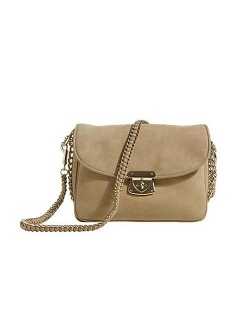 """<p>We instantly fell for this nude suede bag. A timeless classic and perfect for channelling autumn's ladylike vibe. <a href=""""http://www.reissonline.com/shop/womens/womens_new_arrivals/duke/tan/"""">Reiss</a> leather bag, £179 </p>"""