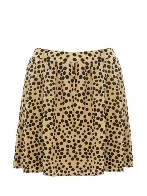 """<p>Leopard print is having a fashion moment and this silk skater skirt is a super-cute way to tap into the trend. Friend of Mine skirt, £175, at <a href=""""http://www.bunnyhug.co.uk/fashionshop/gbu0-prodshow/Friend_of_Mine_Camel_Leopard_Spot_Print_Silk_Chlo"""