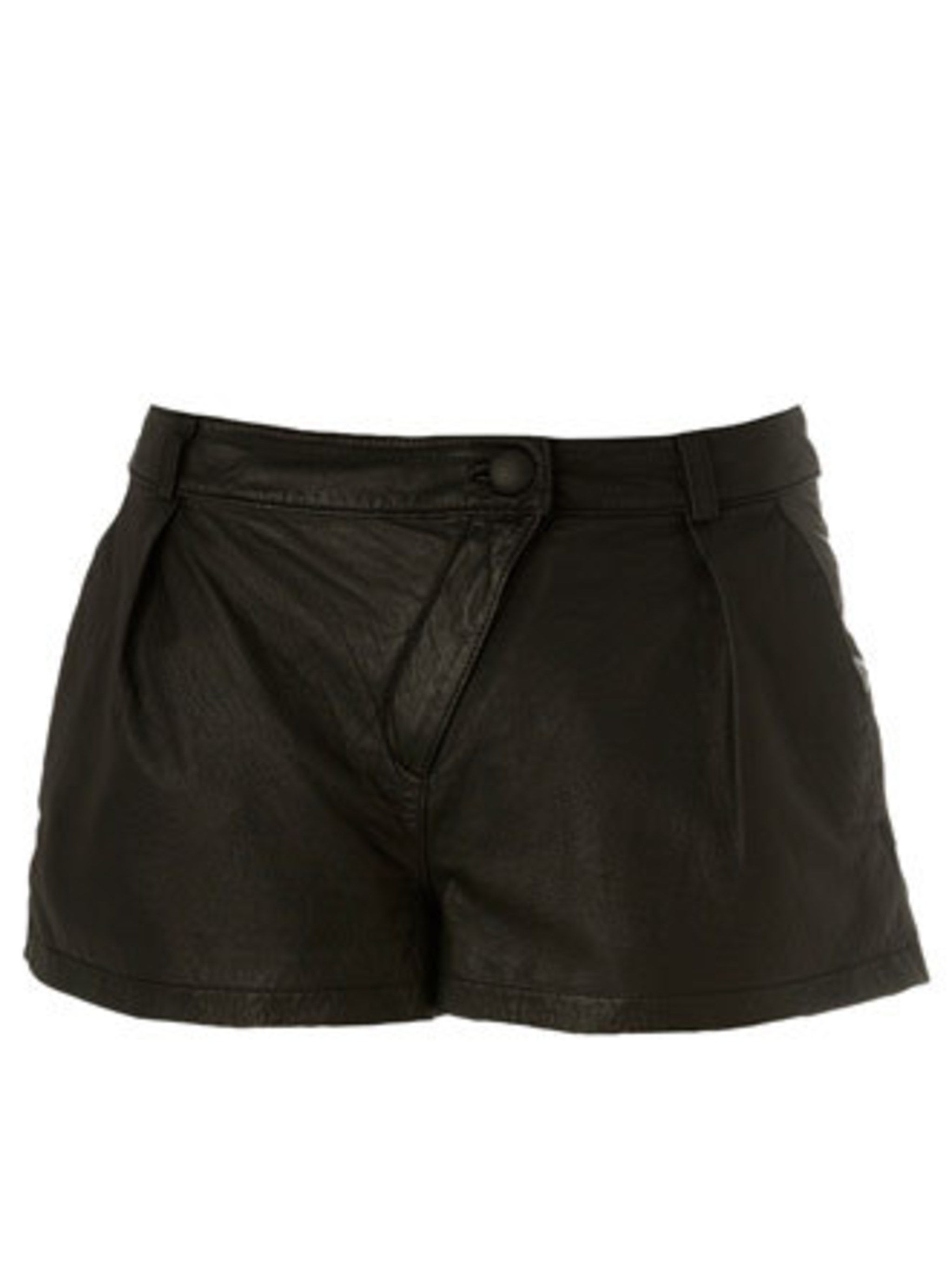 """<p>How cool will these shorts look with a vintage tee and sandals? They'll also look smart with tights and a blouse come September.</p><p>Leather shorts, £45 by <a href=""""http://www.newlook.com/"""">New Look</a></p>"""