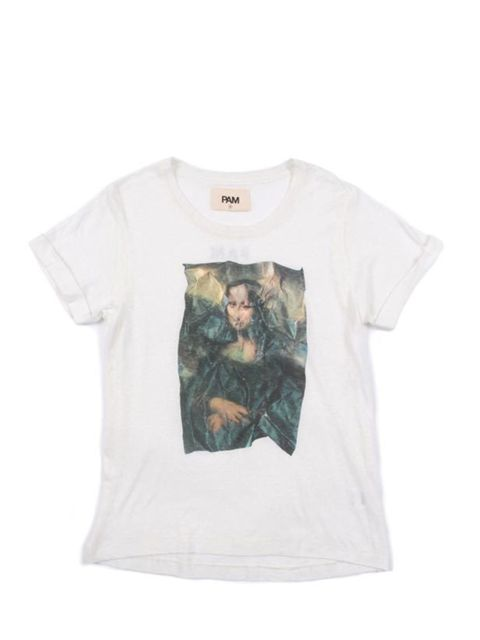 "<p> </p><p>We've come over all French this week thanks to Paris Fashion Week and this Mona Lisa printed T-shirt has gone straight to the top of our wish list... Perks & Mini T-shirt, £68, at <a href=""http://goodhoodstore.com/?page=51&id=1458&t"