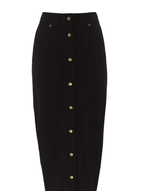 <p> </p><p> </p><p>Style this pencil skirt with a silk blouse and pair of heels for an effortlessly chic look for the office. Whistles buttoned pencil skirt, £85, for stockists call 0845 899 1222 </p>
